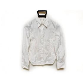 【中古】 アニエスベー agnes b 長袖シャツブラウス サイズ0 XS レディース 白
