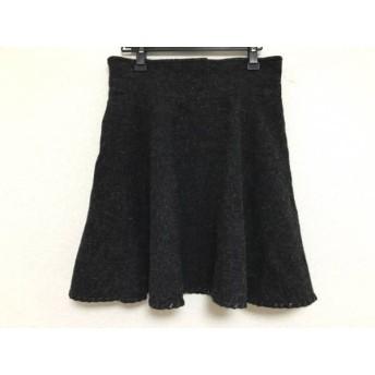 【中古】 ミュウミュウ miumiu スカート サイズ42 M レディース ダークグレー 黒