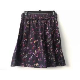 【中古】 シーバイクロエ SEE BY CHLOE スカート サイズI40 M レディース パープル マルチ 花柄