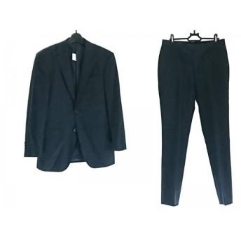 【中古】 ビサルノ VISARUNO シングルスーツ メンズ ダークネイビー ストライプ/肩パッド
