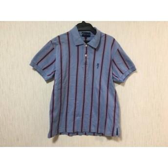 【中古】 パーリーゲイツ PEARLY GATES 半袖ポロシャツ メンズ ライトブルー ブルー レッド GOLF