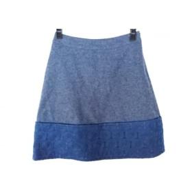 【中古】 ヴィヴィアンタム スカート サイズ0 XS レディース ダークネイビーグレー ネイビー ウール/刺繍