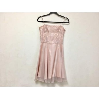 【中古】 エメ aimer ドレス サイズ9号 レディース ピンクベージュ シルバー レース