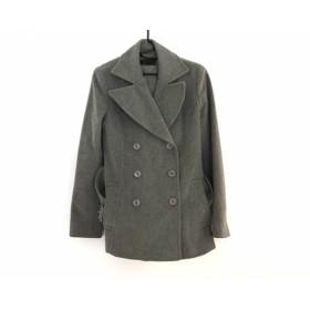 【中古】 アイシービー ICB Pコート サイズ9 M レディース グレー 冬物 毛カシミヤキュプラ