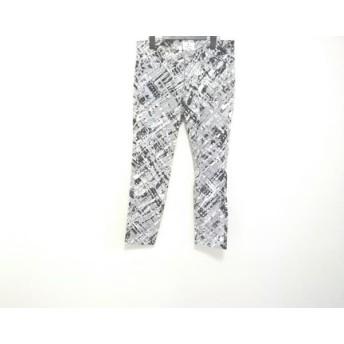 【中古】 ランバンオンブルー パンツ サイズ36 S レディース ライトグレー アイボリー 黒