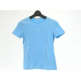 【中古】 フィロソフィーディアルベルタフェレッティ 半袖Tシャツ レディース 美品 ライトブルー 白