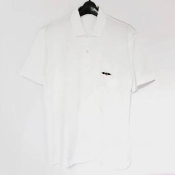 【中古】ダックス DAKS 半袖ポロシャツ サイズL メンズ 美品 白