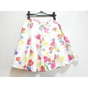 【中古】 チェスティ Chesty スカート サイズ1 S レディース アイボリー ピンク マルチ 花柄