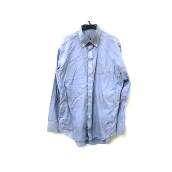 【中古】 ビサルノ VISARUNO 長袖シャツ サイズA41 84-86 メンズ ブルー ホワイト
