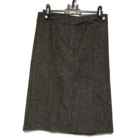 【中古】 セオリー theory スカート サイズ2 S レディース 美品 黒 アイボリー