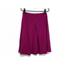【中古】 アニエスベー agnes b スカート サイズ2 M レディース パープル