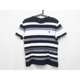 【中古】 ブラックレーベルクレストブリッジ 半袖Tシャツ サイズL メンズ 黒 白 ボーダー/ニット