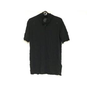 【中古】 イッセイミヤケ ISSEYMIYAKE 半袖ポロシャツ サイズM レディース 黒