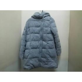 【中古】 クロチェ CLOCHE ダウンコート サイズ2 M レディース ライトグレー グレー 冬物