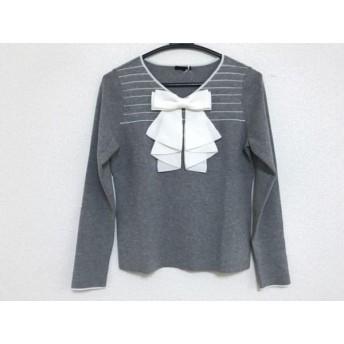 【中古】 トゥービーシック TO BE CHIC 長袖セーター サイズ42 L レディース 美品 グレー アイボリー