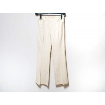 【中古】 ミッシェルクラン MICHELKLEIN パンツ サイズ40 M レディース アイボリー