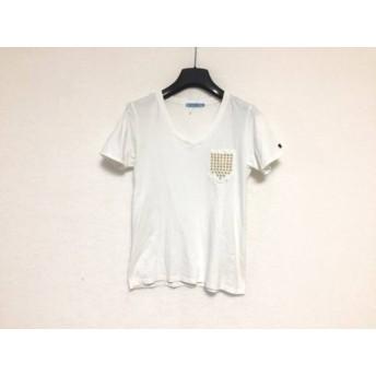 【中古】 ギルドプライム GUILD PRIME 半袖Tシャツ サイズ34 S レディース 白 ゴールド スター/刺繍