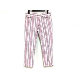 【中古】 イザベルマランエトワール パンツ サイズ38 M レディース 白 ピンク マルチ