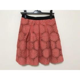 【中古】 フリッカ FLICKA スカート サイズ1 S レディース ベージュ 黒 花柄