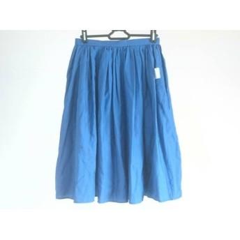 【中古】 メゾン ド リーファー スカート サイズ38 M レディース 美品 ネイビー プリーツ