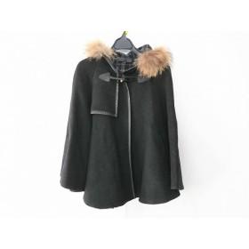 【中古】 アンタイトル UNTITLED コート サイズ1 S レディース 黒 冬物/ショート丈/ファー