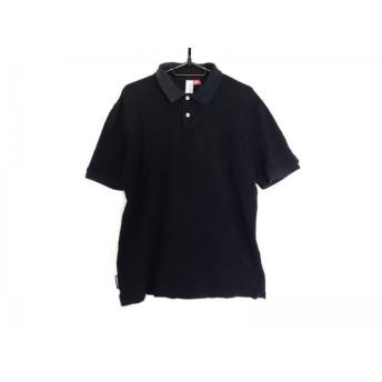【中古】 ループウィラー loopwheeler 半袖ポロシャツ サイズL メンズ ネイビー