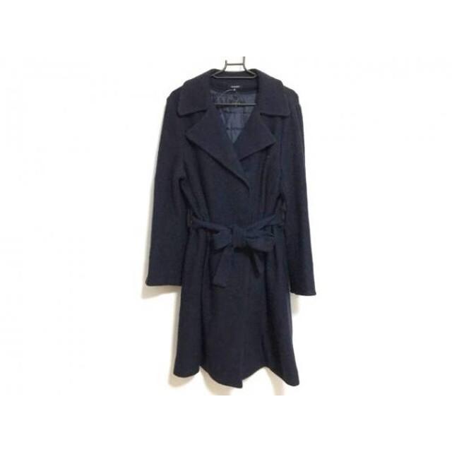 【中古】 ドゥクラッセ DoCLASSE コート サイズ9 M レディース ダークネイビー 冬物