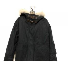 【中古】 マカフィ MACPHEE コート サイズ38 M レディース 黒 冬物