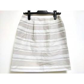 【中古】 トゥモローランド ミニスカート サイズ38 M レディース ライトグレー グレー ラメ/ボーダー