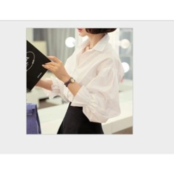 シャツ レディース 長袖 ブラウス フォーマル トップス 大きいサイズ 無地 白 黒 シャツ ブラウス フォーマル 通勤 オフィ
