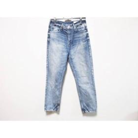 【中古】 アッパーハイツ ジーンズ サイズ24 レディース ブルー ライトブルー ダメージ加工 綿