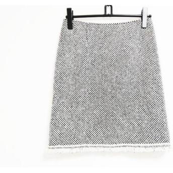 【中古】 ルネ Rene スカート サイズ36 S レディース 美品 アイボリー 黒 チェック柄