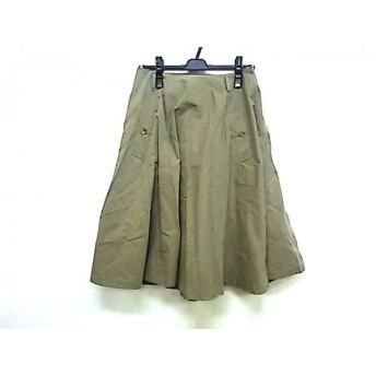 【中古】 ウィムガゼット whim gazette スカート サイズ36 S レディース カーキ