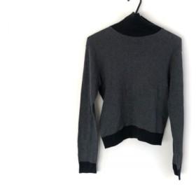 【中古】 アニエスベー agnes b 長袖セーター サイズ2 M レディース ダークグレー グレー