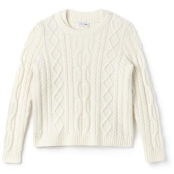 アルパカ混ケーブルニットセーター