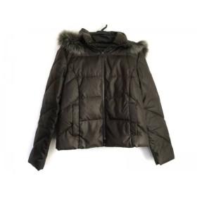 【中古】 アンタイトル UNTITLED ダウンジャケット サイズ2 M レディース カーキ 冬物