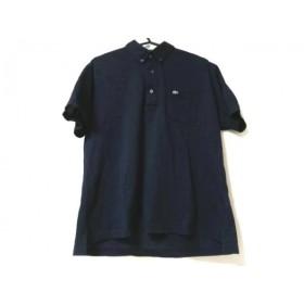 【中古】 ラコステ Lacoste 半袖ポロシャツ サイズ5 XL メンズ ダークネイビー
