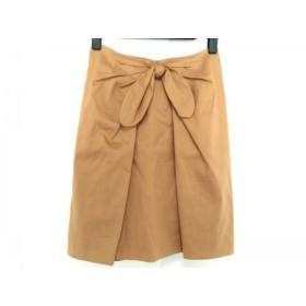 【中古】 ジャスグリッティー JUSGLITTY スカート サイズ0 XS レディース ライトブラウン リボン