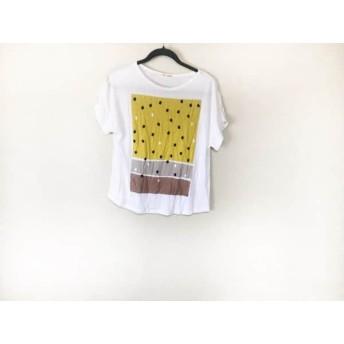 【中古】 プープレ peu pres 半袖Tシャツ サイズF レディース 白 マルチ
