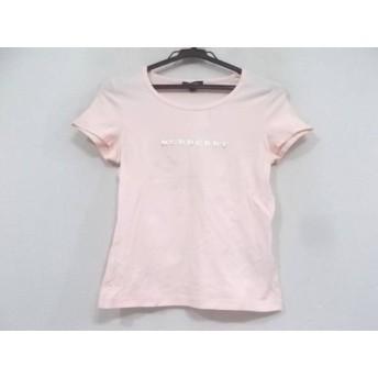 【中古】 バーバリーロンドン 半袖カットソー サイズ1 S レディース 美品 ピンク ゴールド