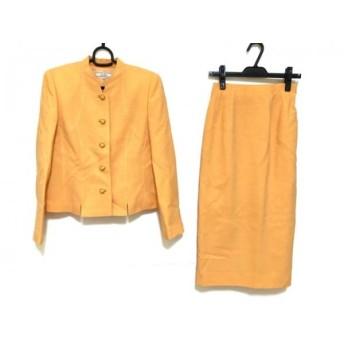 【中古】 レリアン Leilian スカートスーツ サイズ9 M レディース 美品 オレンジ 肩パッド
