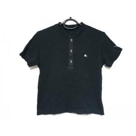 【中古】 バーバリーブラックレーベル Burberry Black Label 半袖カットソー サイズ1 S レディース 黒