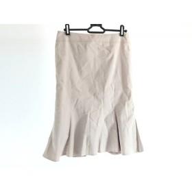 【中古】 マテリア MATERIA スカート サイズ38 M レディース ベージュ