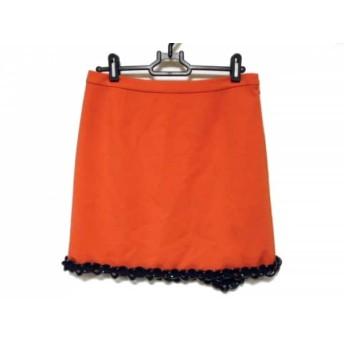 【中古】 モスキーノ チープ&シック ミニスカート サイズ38(I) S レディース 美品 オレンジ 黒