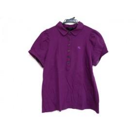 【中古】 バーバリーロンドン Burberry LONDON 半袖ポロシャツ サイズ5 XS レディース パープル