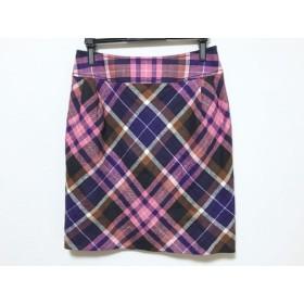 【中古】 オールドイングランド スカート サイズ36 S レディース ピンク パープル マルチ チェック柄