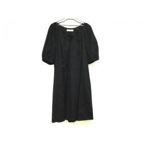 【中古】 アドーア ADORE ワンピース サイズ38 M レディース 黒 ADORE body dressing/プリーツ