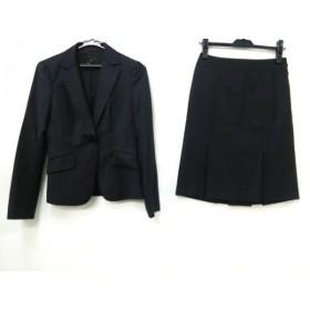 【中古】 アイシービー ICB スカートスーツ レディース 黒 白