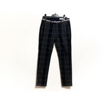 【中古】 アントゲージ antgauge パンツ サイズSS XS レディース 黒 ダークグレー 白 チェック柄