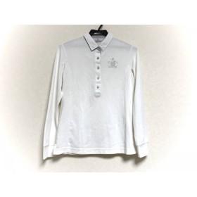 【中古】 マンシングウェア Munsingwear 長袖ポロシャツ サイズM レディース 白 ラインストーン